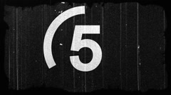 Stock Video Footage of Graphics / Slates - Countdown Clock Leader - Dirty & Scratched - Old Film Look 2