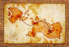 Old treasure map Stock Illustration