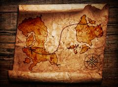 Old treasure map Stock Illustration