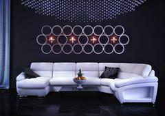 White sofa in the room Stock Illustration