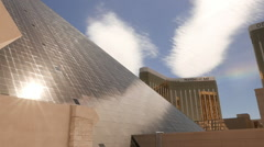 The pyramid of Luxor Hotel and Casino in Las Vegas - stock footage