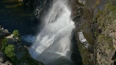 Yosemite Hetch Hetch Dam 96fps 03 Slow Motion Dam water release Stock Footage