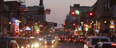 Nashville Broadway Timelapse City Life and Lights Cinematic 5K Wide Stock Footage