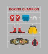 Boxing champion Plastic model kits - stock illustration
