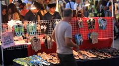 Chamorro Village Market at Night on GUAM, USA Stock Footage
