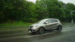 Renault Captur in slow motion Stock Footage