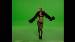 Sexy Girl Feather Boa  Stock Footage