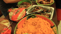 Display of Food in GUAM, USA Stock Footage