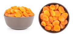 Dried Apricots In A Bowl Stock Photos