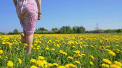 Follow her steps. - stock footage