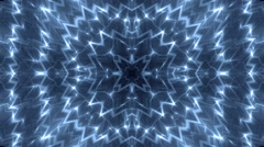 Background Blue motion with fractal design. - stock footage