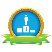 Stock Illustration of Person on pedestal icon
