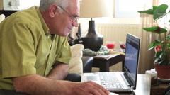Man using laptop 3 Stock Footage