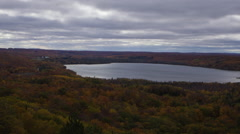 Timelapse of of Lime Lake from Sugarloaf Mountain Fall Colors - stock footage