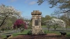Fredericksburg Virginia Religious Liberty Monument 4K Stock Footage