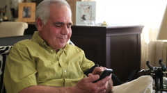 Man  with cellphone Stock Footage