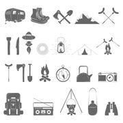 Stock Illustration of Outdoor Recreation Vector Icon Set.