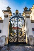 beautiful gateway - stock photo