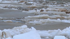 Ice break and  drift on the river - stock footage