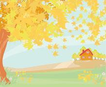 Stock Illustration of Beautiful autumn landscape