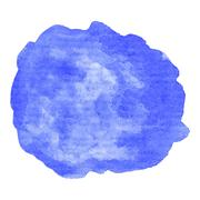 Hand painted watercolor blob - stock illustration