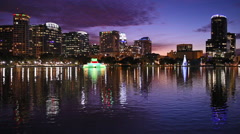 Orlando, Florida Skyline Stock Footage