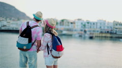 The guy with the girl travel Stock Footage