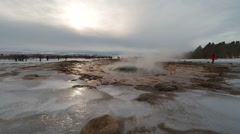 Strokkur Iceland Geyser action in extreme slow motion 60 fps Stock Footage
