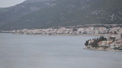 Panoramic view at the only Bosnian town on the coast Stock Footage