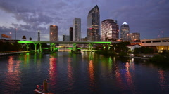 Tampa, Florida Skyline Stock Footage