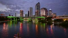 Tampa, Florida Skyline - stock footage