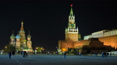 Russia, Moscow, Red Square, St. Basils and the Kremlin - 4K+ Stock Footage