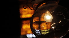 Alabaster Mosque, mosque lamp Stock Footage