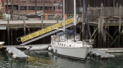Docked sailboat Stock Footage