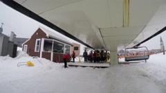 Time lapse ski lift 4K Stock Footage