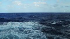 Open ocean steadicam pan Stock Footage