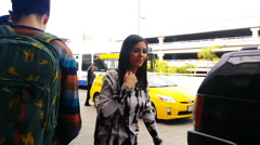 Victoria Justice at LAX Stock Footage