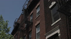 Brooklyn Apartment Buildings. Tilt up to Brooklyn Apartments. Stock Footage