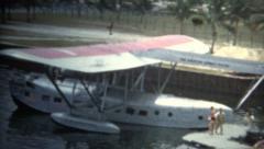 (8mm Vintage) Rare Boatplane Showcase Stock Footage