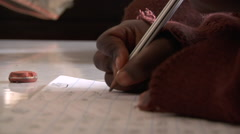 Kenyan schoolchild Stock Footage