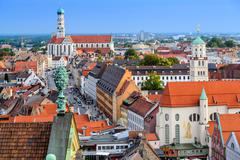 Augsburg, Germany old town skyline. - stock photo