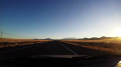Driving through Arizona Stock Footage