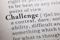 Challenge - stock photo
