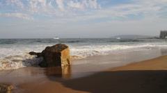 Beach seascape in South Africa - stock footage