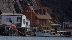 Quidi Vidi Village, Newfoundland Stock Footage
