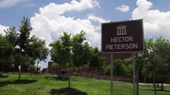 Hector Pieterson Memorial and Museum signage Arkistovideo