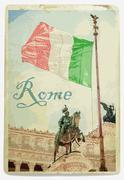 Memorial Vittoriano, Rome Stock Illustration