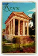 Temple of Fortuna Virilis Stock Illustration
