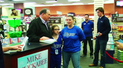 American politician Mike Huckabee book signing Stock Footage