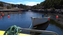 Dory Docked in St. Philip's, NL Stock Footage